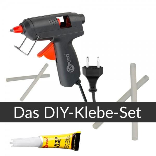 3-teiliges Klebeset - DIY - Klebepistole, Ersatzsticks + Sekundenkleber